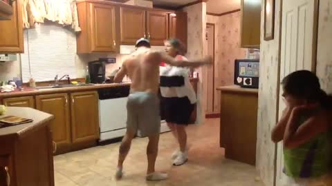 Son Grabs Mom's Hand When Their Favorite Song Comes On, Their Dance Is Lighting Up The Internet