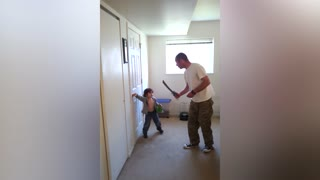 When Dad Goes To Fight The Monster In The Closet - Video