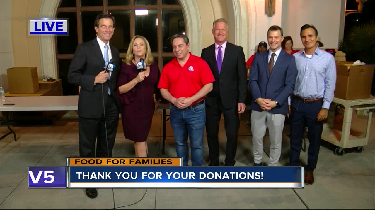 WPTV thanks community for Food for Families donations