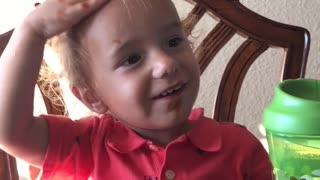 Baby thinks Ketchup is Shampoo  - Video