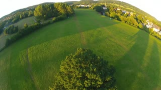 Gliding through the sunset. Gentle drone/quadcopter flight - ZMR250 Racing/Acro ** - Video