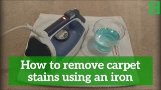 How to remove carpet stains using a clothes iron - Video