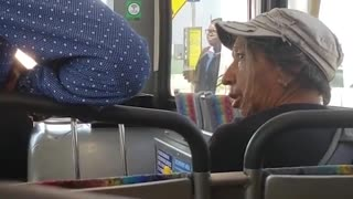 Woman Refuses To Give Up Seat For Disabled Man - Video