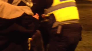 Two Guys Getting Arrested And Pepper Sprayed At Moreland Train Station by PSO's - Video