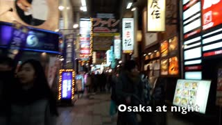 Real Japanese Food in Japan - Day 1, Ramen noodle in Osaka!