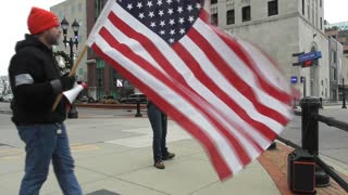 Protesting COVID, Whitmer, and Lockdowns in Downtown Lansing