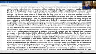 2 Corinthians 1-7 Spiritual Warfare is between God's Objective truth of the Subjective truth of men.