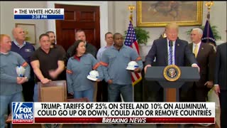 Trump Officially Signs New Tariffs on Steel and Aluminum, Says Negotiations Will Continue - Video