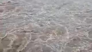 A Beautiful And Dangerous Water Flowing Seen