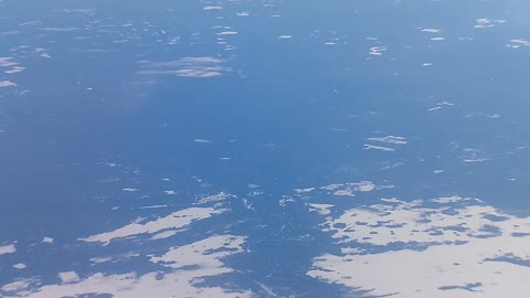 Earth from an airplane in winter