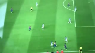 Watch Messi dribbling through 3 Players
