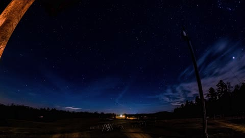 Awe-inspiring night lapse of star-filled sky