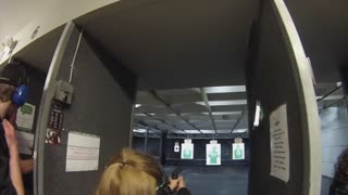 Mom's first experience shooting zombies  - Video