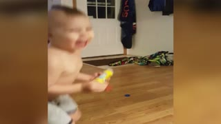 Cute Kid Creates Sudsey Slip And Slide - Video