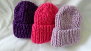 Hand Knitted PREEMIE HATS
