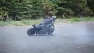 Dangerous bike stunt