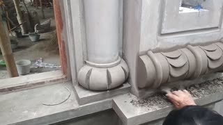 Construction Wonderful - Beautiful Art Rendering of sand and cement on concrete columns