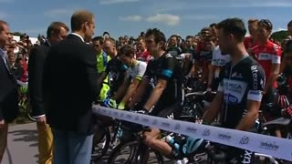 Briton's Royals help launch Tour de France - Video