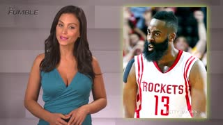 James Harden Just Misses Stomping on Cameraman's Nuts