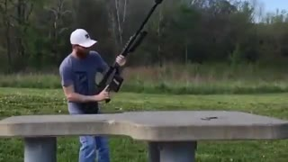 Shooting with a Rifle 50mm - Video