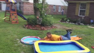 daddy breaks kiddie slide!! - Video