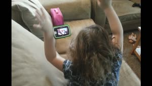 Little girl's dance escalates quickly - Video
