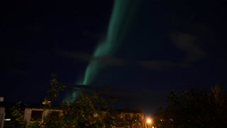 Northern Lights Over Reykjavik - Video