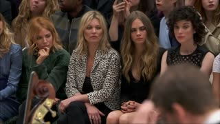 Burberry and Moyet at Fashion Week show