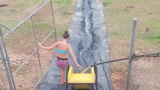 Slip and Slide Aussie Style! - Video