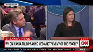 acosta demands sarah sanders denounce anti-media rhetoric