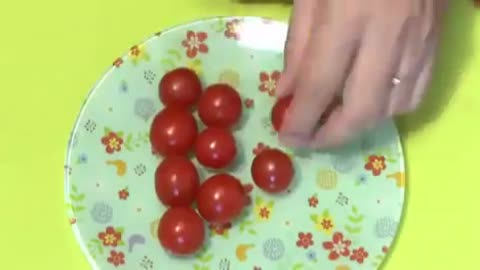 Cherry tomato to bisect sword technique