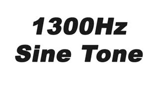 1300Hz Sine Wave Test Tone - Video