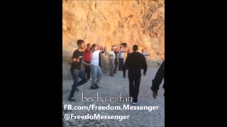 Young People Dancing Together In Mountain - Video