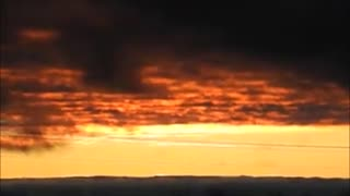 Orange sky after the storm  - Video