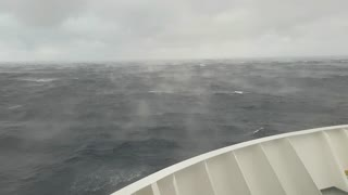 Rare meteorological phenomena - hot ocean water evaporating under the ice cold air - Video
