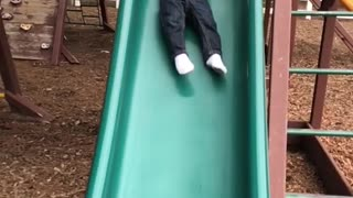 baby slow motion slide  - Video