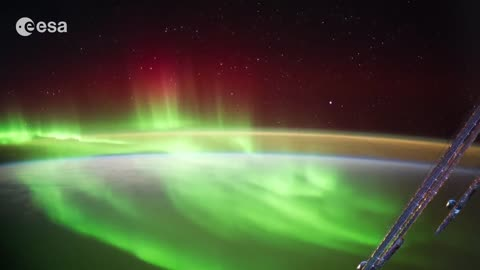 Stunning view of aurora over New Zealand