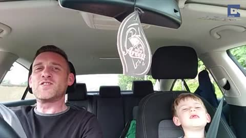 Father And Son Belt Out Classic Frank Sinatra Duet In The Car