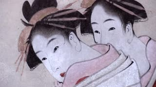 Huge exhibition of Japanese artist Hokusai - Video