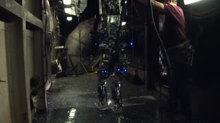 US Navy unveils firefighting robot