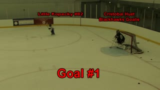 Little Kopecky scores a hat-trick against Chicago Blackhawks goaltender Cristobal Huet - Video