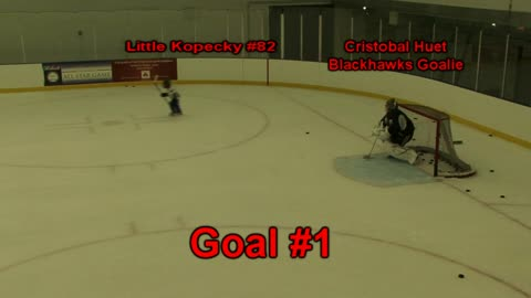 Little Kopecky scores a hat-trick against Chicago Blackhawks goaltender Cristobal Huet