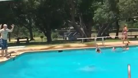 Miracle back flip diving board catch