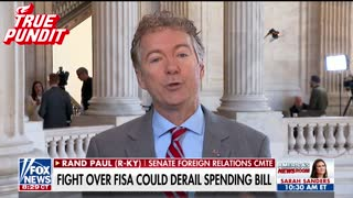 Paul: We Need to Investigate 'Obama Officials Colluding' - Video