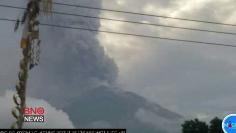 Mount Agung Erupts on Indonesia's Bali Island, Some Flights Canceled