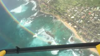 Rainbow from a helicopter