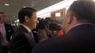 Marco Rubio and Alex Jones Nearly Come to Blows