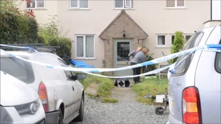 Scene of murder investigation in Church Stretton - Video