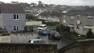 A cornish summer rain storm