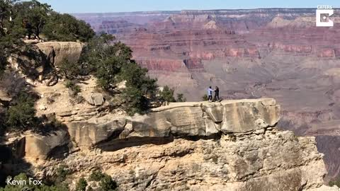 Heart-stopping moment woman almost slips down Grand Canyon while snapping pic of mom